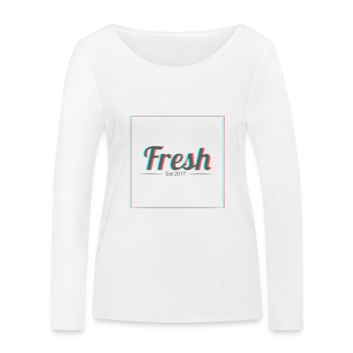 Fresh 3D logo - Women's Organic Longsleeve Shirt by Stanley & Stella