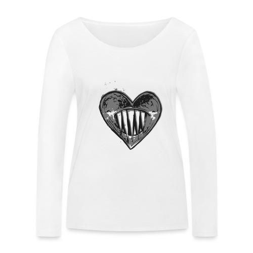 Corazón Negro - Camiseta de manga larga ecológica mujer de Stanley & Stella