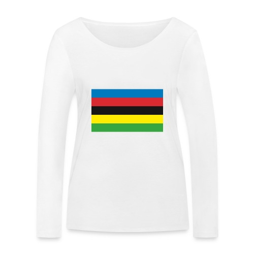 Cycling_World_Champion_Rainbow_Stripes-png - Vrouwen bio shirt met lange mouwen van Stanley & Stella
