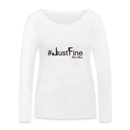 JUST FINE - Økologisk Stanley & Stella langærmet T-shirt til damer