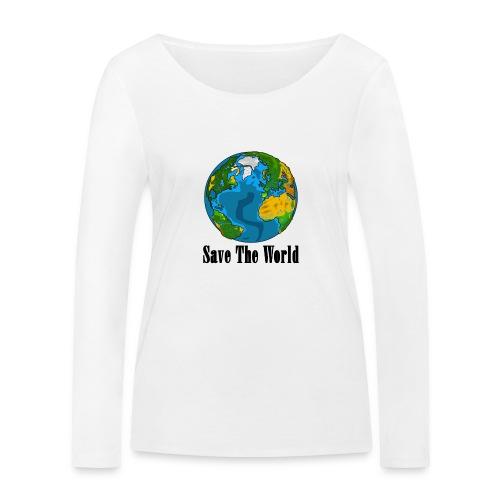 Save The World-Planet - Ekologisk långärmad T-shirt dam från Stanley & Stella