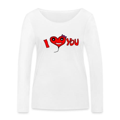 ich liebe dich - Frauen Bio-Langarmshirt von Stanley & Stella