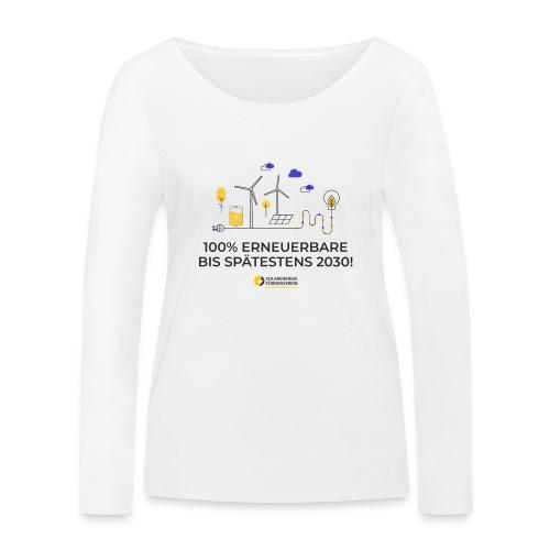 100% Erneuerbare 2030 - Frauen Bio-Langarmshirt von Stanley & Stella