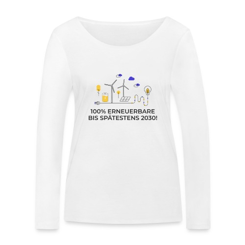 100% Erneuerbare 2030 2 - Frauen Bio-Langarmshirt von Stanley & Stella