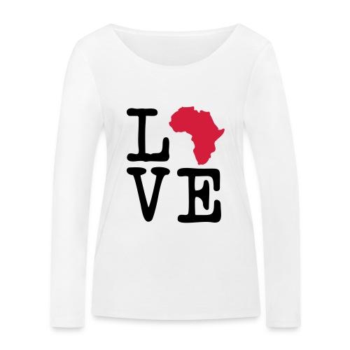 I Love Africa, I Heart Africa - Women's Organic Longsleeve Shirt by Stanley & Stella