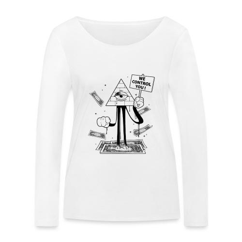 We Control You - Conspiration Design - T-shirt manches longues bio Stanley & Stella Femme