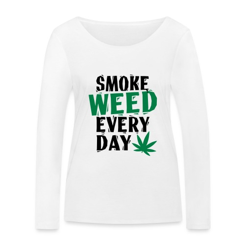 Smoke Weed Everyday Linovert - T-shirt manches longues bio Stanley & Stella Femme