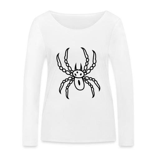 Spinne schwarz - Frauen Bio-Langarmshirt von Stanley & Stella