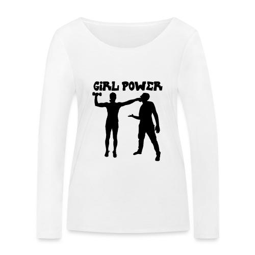 GIRL POWER hits - Camiseta de manga larga ecológica mujer de Stanley & Stella