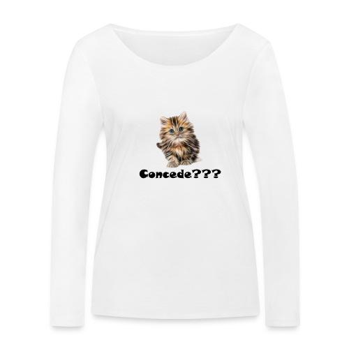 Concede kitty - Økologisk langermet T-skjorte for kvinner fra Stanley & Stella