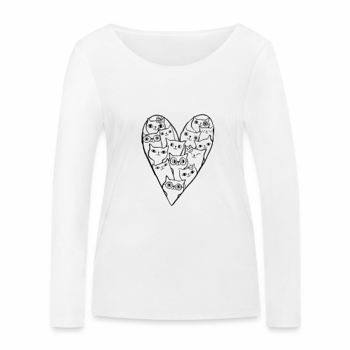 I Love Cats - Women's Organic Longsleeve Shirt by Stanley & Stella