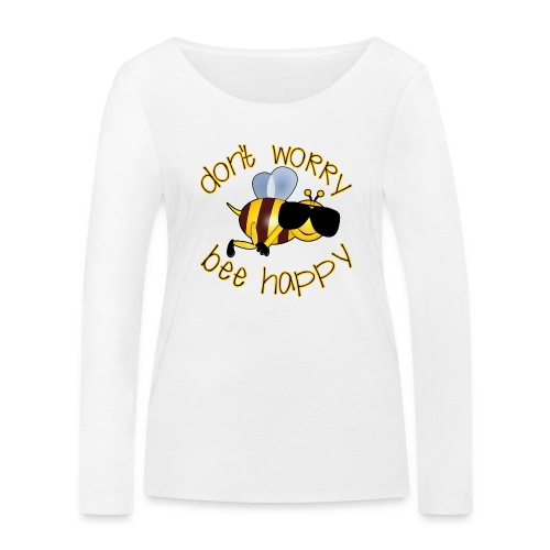Bee happy, it´s summertime! - Frauen Bio-Langarmshirt von Stanley & Stella