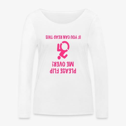 > Rolstoel gebruiker op zijn kop - Vrouwen bio shirt met lange mouwen van Stanley & Stella