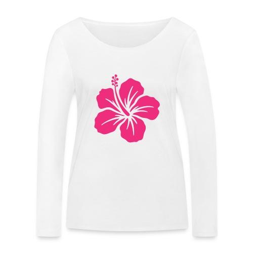 Camisetas, blusas, forros celulares de flor rosada - Camiseta de manga larga ecológica mujer de Stanley & Stella