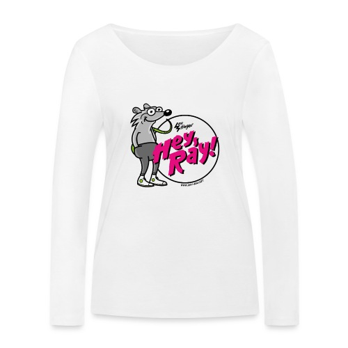 Hey Ray! Logo magenta - Frauen Bio-Langarmshirt von Stanley & Stella