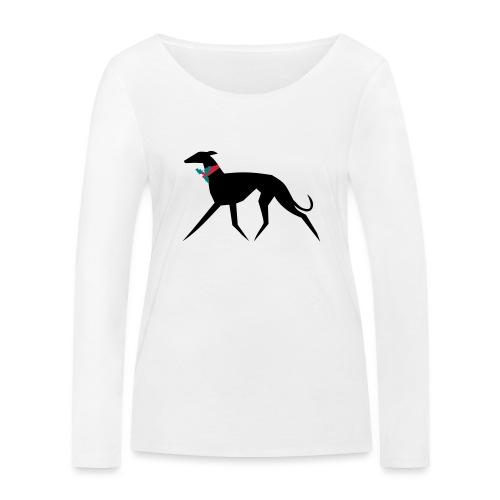 Weihnachtswindhund - Frauen Bio-Langarmshirt von Stanley & Stella