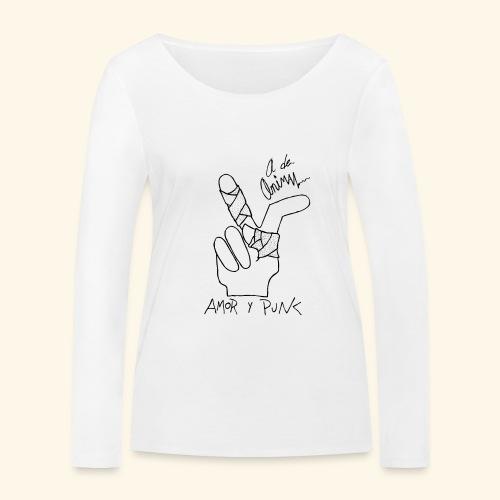 Amor y Punk II Black - Camiseta de manga larga ecológica mujer de Stanley & Stella