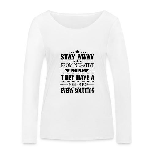 Stay away - Stanley & Stellan naisten pitkähihainen luomupaita