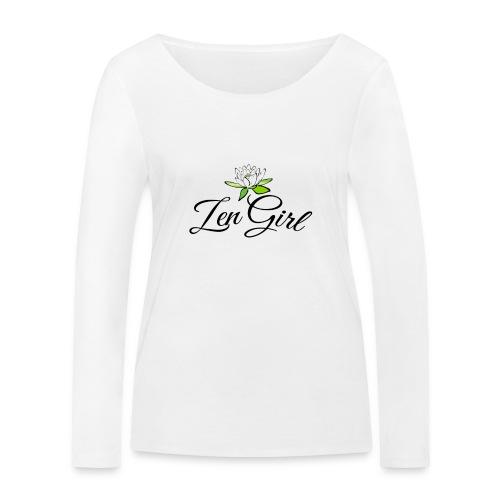 Zen Girl -Lotus Blomma - Prima Vera Design - Ekologisk långärmad T-shirt dam från Stanley & Stella