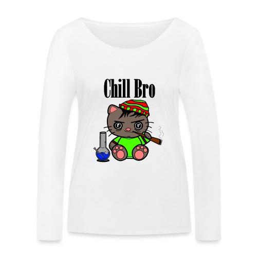 Chill Bro Katze - Frauen Bio-Langarmshirt von Stanley & Stella