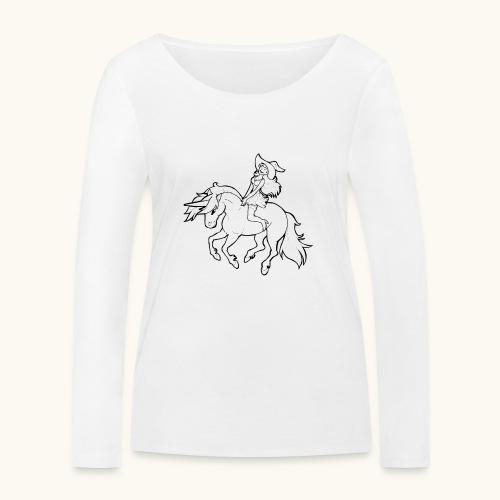 Monter une sorcière sexy sur une licorne. - T-shirt manches longues bio Stanley & Stella Femme