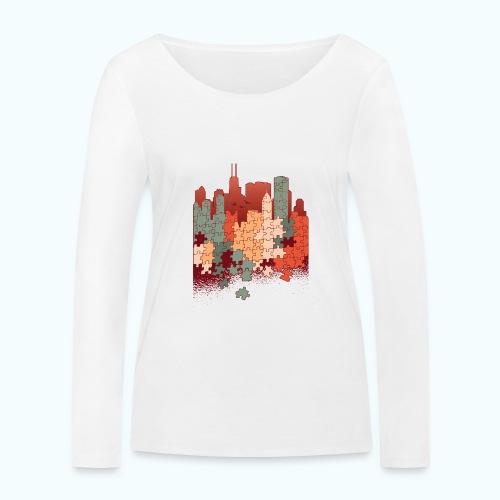Puzzle fan - Women's Organic Longsleeve Shirt by Stanley & Stella