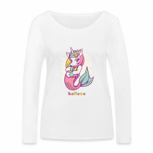 Meerjungfraucorn - Frauen Bio-Langarmshirt von Stanley & Stella