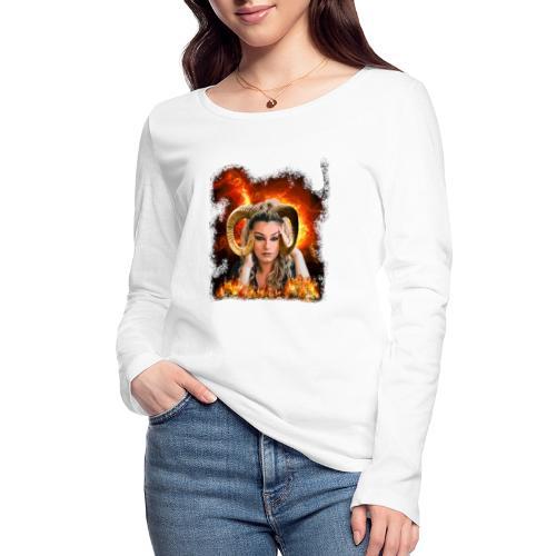 Widder Lady - Frauen Bio-Langarmshirt von Stanley & Stella