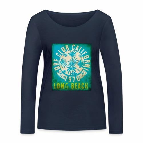 Long Beach Surf Club California 1976 Gift Idea - Women's Organic Longsleeve Shirt by Stanley & Stella