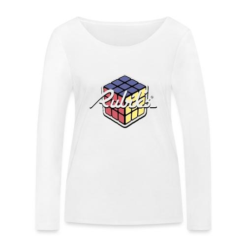 Rubik's Cube Retro Style - Women's Organic Longsleeve Shirt by Stanley & Stella