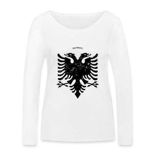 Albanischer Adler im Vintage Look - Patrioti - Frauen Bio-Langarmshirt von Stanley & Stella