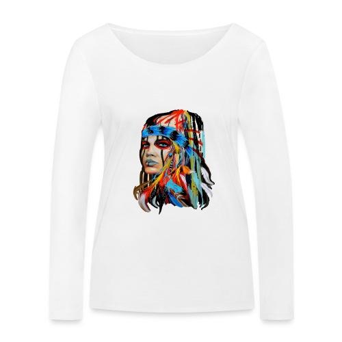 Pióra i pióropusze - Ekologiczna koszulka damska z długim rękawem Stanley & Stella