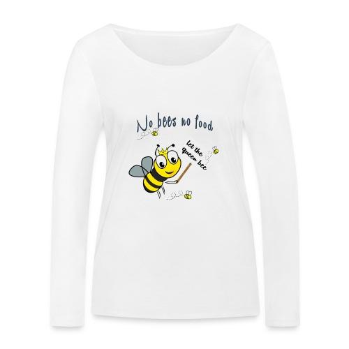 Save the bees with this cute design! Red de bij - Vrouwen bio shirt met lange mouwen van Stanley & Stella