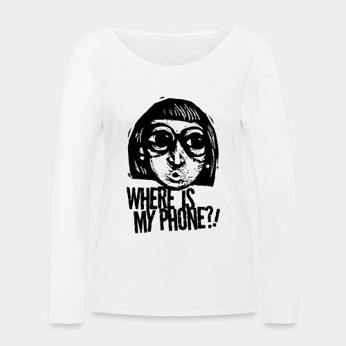téléphone portable accro - T-shirt manches longues bio Stanley & Stella Femme