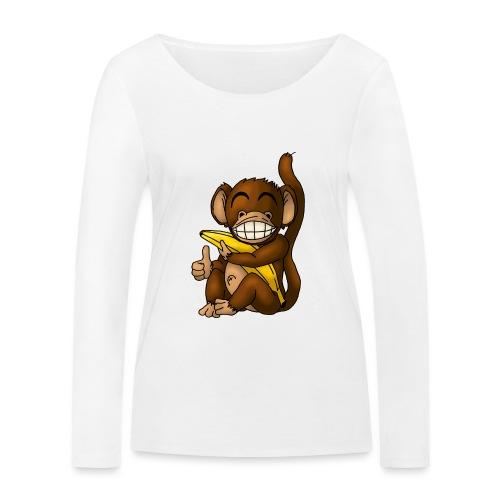 Super Fröhlicher Affe - Frauen Bio-Langarmshirt von Stanley & Stella