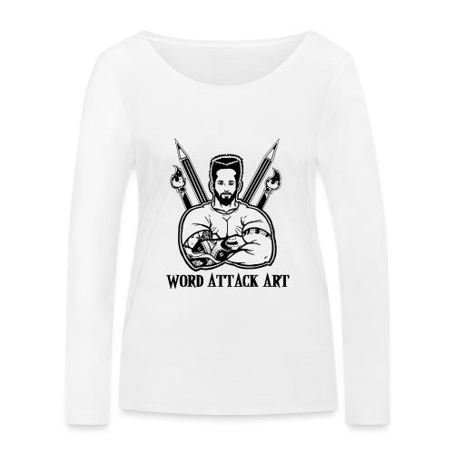 Word Attack Art - Frauen Bio-Langarmshirt von Stanley & Stella