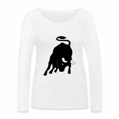Stier - Frauen Bio-Langarmshirt von Stanley & Stella