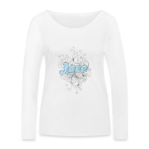LOVE CON DECORI - Maglietta a manica lunga ecologica da donna di Stanley & Stella