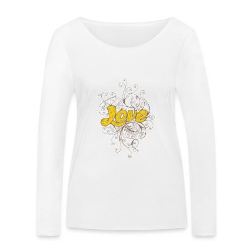 Scritta Love con decorazione - Maglietta a manica lunga ecologica da donna di Stanley & Stella