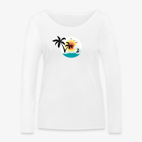 Surfing in paradise - Frauen Bio-Langarmshirt von Stanley & Stella