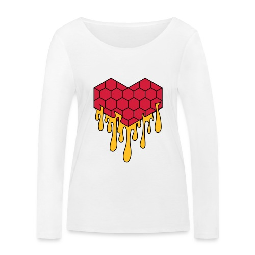 Honey heart cuore miele radeo - Maglietta a manica lunga ecologica da donna di Stanley & Stella
