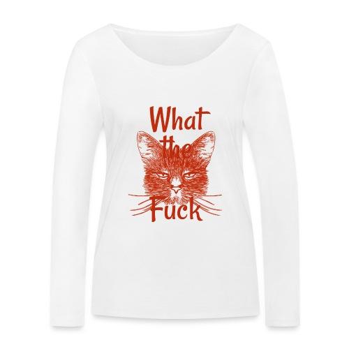 Katze mürrisch - Frauen Bio-Langarmshirt von Stanley & Stella