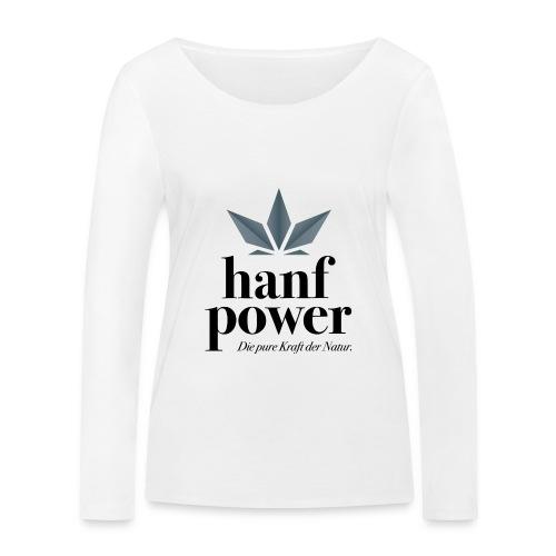 Hanf Power Logo - Frauen Bio-Langarmshirt von Stanley & Stella
