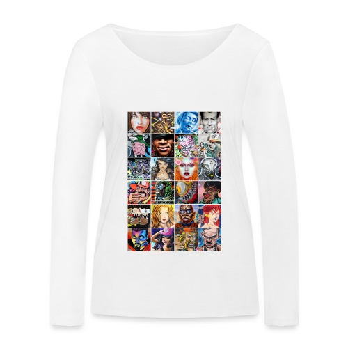 Graffiti Characters Design - T-shirt manches longues bio Stanley & Stella Femme