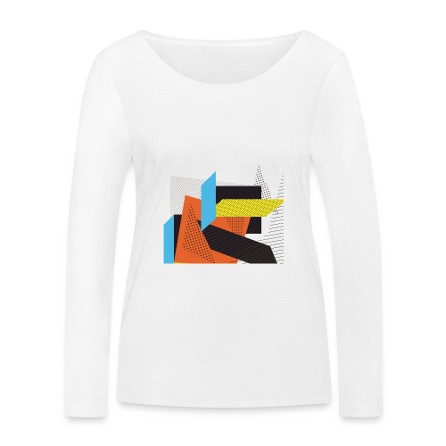 Vintage shapes abstract - Women's Organic Longsleeve Shirt by Stanley & Stella