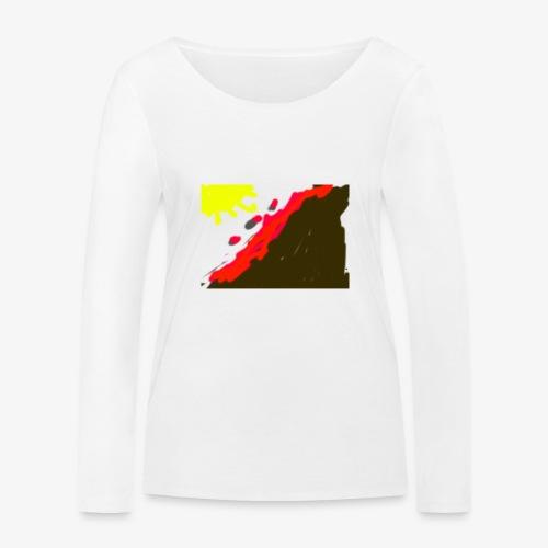 flowers - Økologisk Stanley & Stella langærmet T-shirt til damer