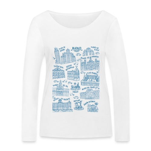 MADRID MONUMENTAL - Camiseta de manga larga ecológica mujer de Stanley & Stella