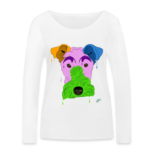 Fox Terrier - Maglietta a manica lunga ecologica da donna di Stanley & Stella