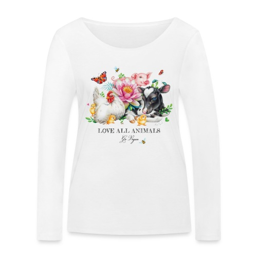 Go vegan - Women's Organic Longsleeve Shirt by Stanley & Stella