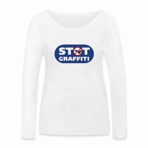 støt graffiti - blk logo - Økologisk Stanley & Stella langærmet T-shirt til damer